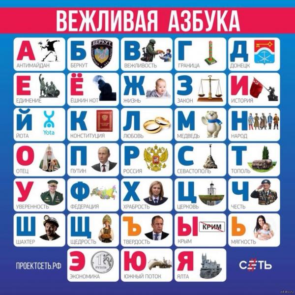 В росії створили ввічливу абетку а