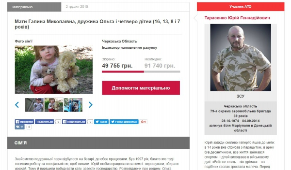 В Україні запрацював ще один сайт, через який можна допомогти родинам загиблих воїнів