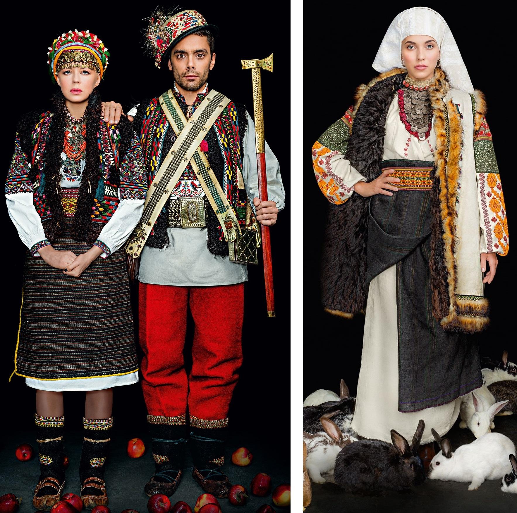 Ната Жижченко та Євген Філатов у гуцульському весільному вбранні початку ХХ  ст c0c7a5ee2db49
